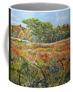 Coffee Mug featuring the painting A Prairie Treasure by Marilyn  McNish