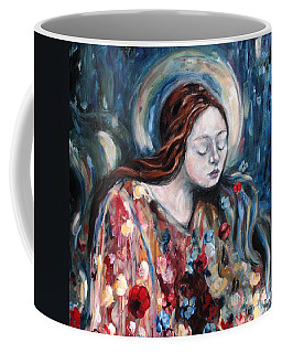 A Prayer For Us Coffee Mug by Carrie Joy Byrnes