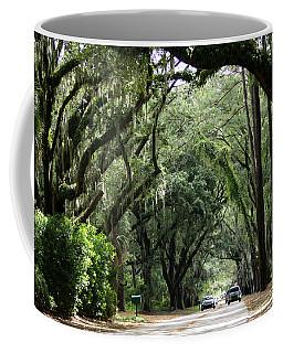 A Pretty Tree Covered Road Somewhere On Hilton Head Island Coffee Mug