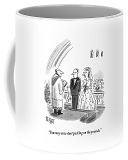 A Priest Marries A Bride And Groom Coffee Mug