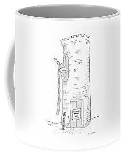 A Prince Reads That Rapunzel's Tower's Elevator Coffee Mug