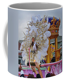 A Queen Of Carnival During Mardi Gras 2013 Coffee Mug by Margaret Bobb