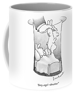A Rabbit Is Being Pulled Out Of A Hat Coffee Mug