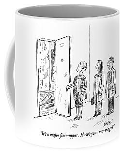 A Real Estate Agent Addresses A Couple Coffee Mug