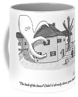 A Real Estate Agent Tries To Hide From Potential Coffee Mug