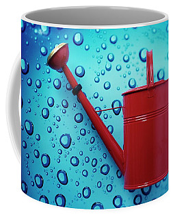 A Red Watering Can Coffee Mug