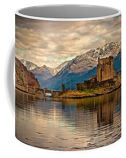 A Reflection At Eilean Donan Castle Coffee Mug