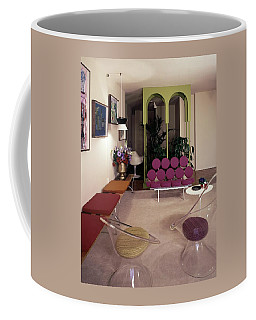 A Retro Living Room Coffee Mug