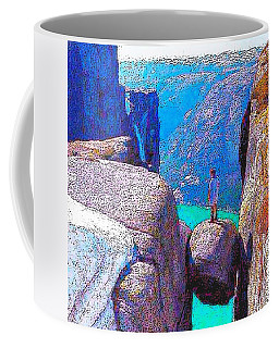 A Rock And A Hard Place Coffee Mug