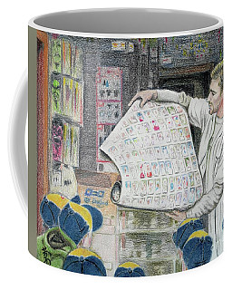 A Roll Of Baseball Cards Coffee Mug by Yoshiko Mishina