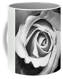 A Rose In Black And White Coffee Mug