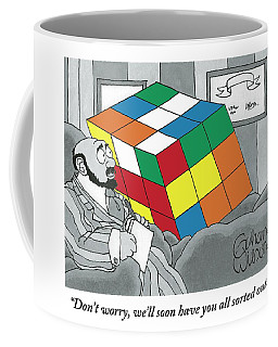 A Rubik's Cube Is Seen In A Psychiatrist's Office Coffee Mug