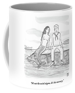 A Sailor Breaks Up With His Naked Mermaid Coffee Mug