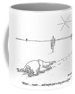 A Scruffy-looking Man Crawls Through The Desert Coffee Mug