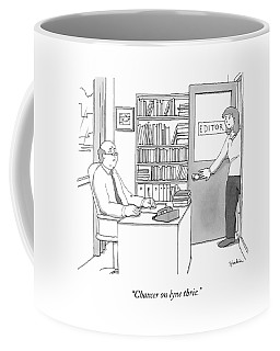 A Secretary Informs An Editor Coffee Mug