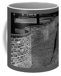 A Serpentine Brick Wall Coffee Mug
