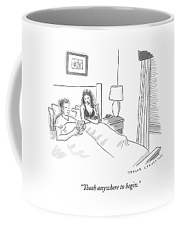 A Sexually Frustrated Wife In Bed Speaks Coffee Mug