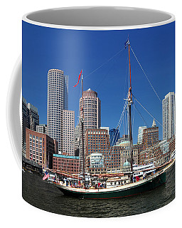 A Ship In Boston Harbor Coffee Mug
