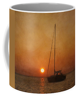 Coffee Mug featuring the photograph A Ship In The Night by Kim Hojnacki
