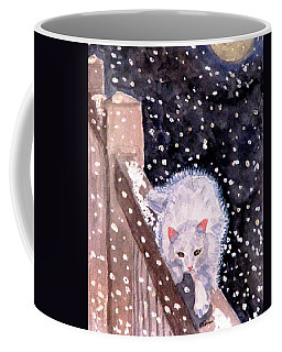 Coffee Mug featuring the painting A Silent Journey by Angela Davies