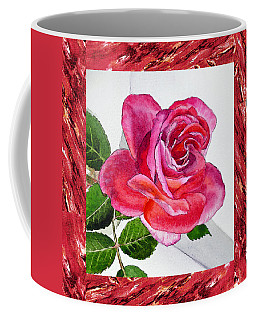 A Single Rose Juicy Pink  Coffee Mug