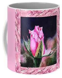 A Single Rose Pink Beginning Coffee Mug