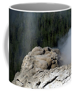 A Smoking Man. Yellowstone Hot Springs Coffee Mug by Ausra Huntington nee Paulauskaite