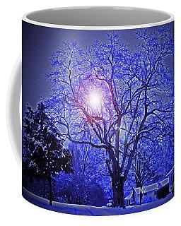 A Snow Glow Evening Coffee Mug by Lydia Holly