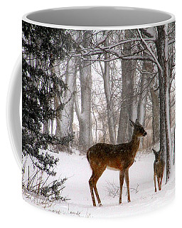 A Snowy Path Coffee Mug by Elizabeth Winter