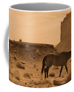Coffee Mug featuring the photograph A Solitary Soldier by Nadalyn Larsen