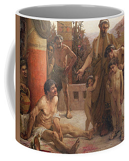 A Spartan Points Out A Drunken Slave To His Sons Coffee Mug