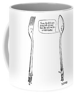 A Spoon Talks To A Fork Coffee Mug