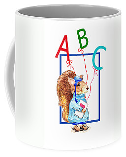 A Squirrel Who Really Loves To Read Coffee Mug