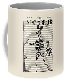 A Steinberg Mouse Character Painting On Music Coffee Mug