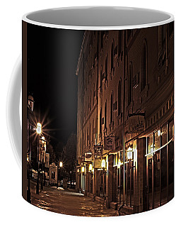 Coffee Mug featuring the photograph A Stroll In The City by Deborah Klubertanz