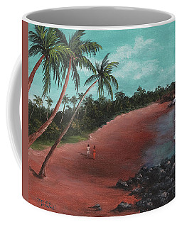 A Stroll On A Tropical Beach Coffee Mug