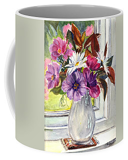 A Vase Of Cosmos And Daisies Coffee Mug