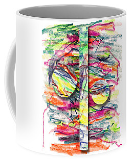 Coffee Mug featuring the drawing A Summers Day Breeze by Peter Piatt