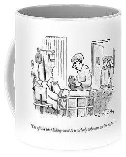 A Surgeon Talks To A Sick Patient In A Hospital Coffee Mug
