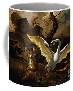 A Swan Enraged By Hondius Coffee Mug