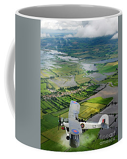 Coffee Mug featuring the photograph A Swordfish Aircraft With The Royal Navy Historic Flight. by Paul Fearn