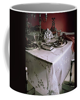 A Table Set With Delicate Tableware Coffee Mug