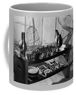A Table With Tableware And Snacks Coffee Mug