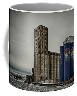 A Tall Blue Six-pack Coffee Mug