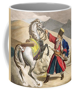 A Tartar With His Horse, Engraved Coffee Mug