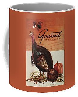 A Thanksgiving Turkey And Pumpkin Coffee Mug