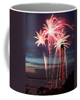 A Three Burst Salvo Of Fire For The Fourth Of July Coffee Mug