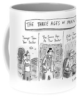 A Three Panel Images That Have Three Men: Coffee Mug