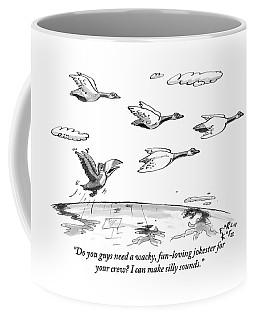 A Toucan Tries To Catch Up With Migrating Canada Coffee Mug