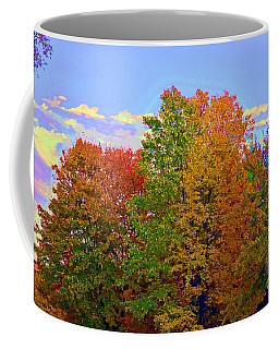 Coffee Mug featuring the photograph A Touch Of Neon by Judy Wolinsky